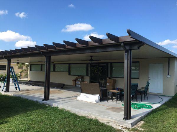 techo de aluminio insulado con prgolas - Pergola Aluminio