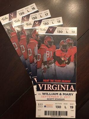 UVA vs W&M - 4 Tickets