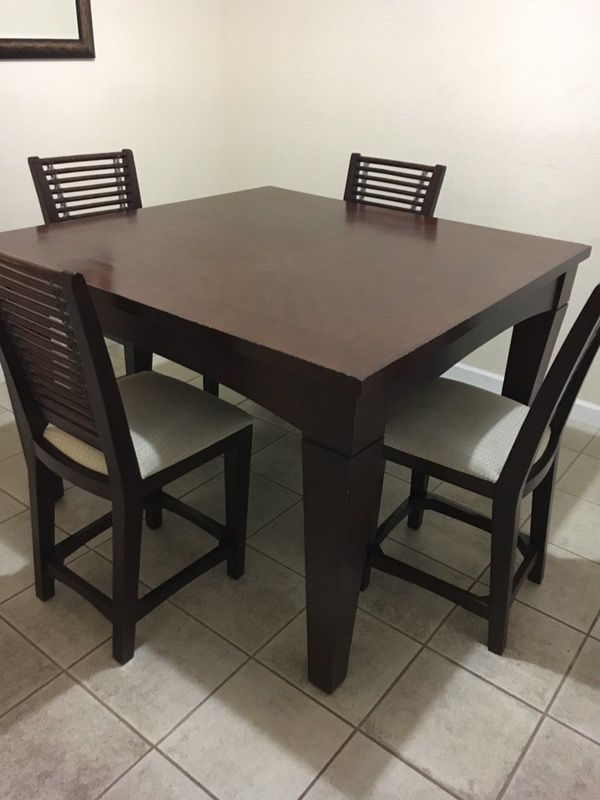 Dining Room Table Set With Chairs Brown Dark Espresso Furniture In Miami FL