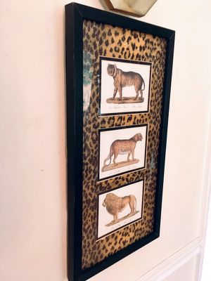 Picture Painting encased in glass with wooden black frame