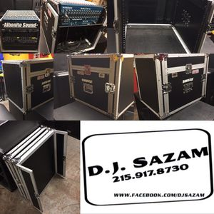 OSP 12 space amp rack with top mount for mixing board/CD player $300