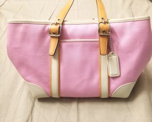Coach 7741 Hampton Canvas & Leather Mini Tote Satchel Handbag