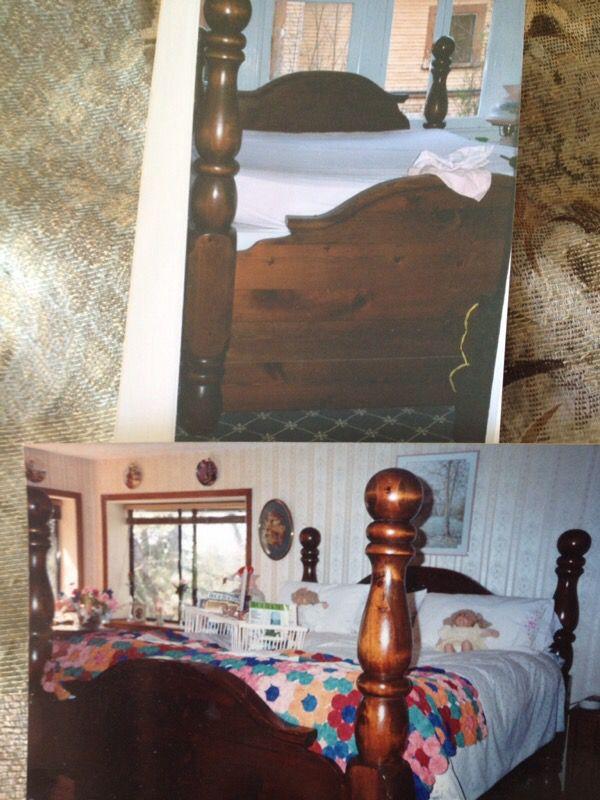 paul bunyan solid wood bedroom set antiques in solana beach ca