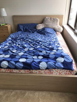 IKEA minimalist queen bed&mattress