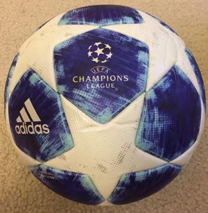 SOCCER BALL 2018 UEFA CHAMPIONS LEAGUE SIZE 5 NEW UNUSED. ORIGINAL. OFFICIAL MATCH FIFA ARRPOVED. NUEVA. ORIGINALES. BALON OFICIAL. FIFA APROPADO. TA