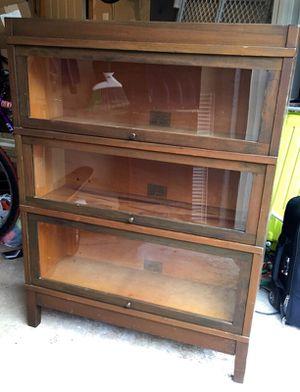 Glass case modular barrister book case