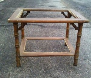 Vintage faux bamboo side table *Project Piece*
