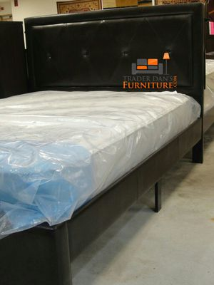 Brand New Queen Size Leather Bed + Mattress