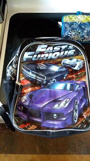 Fast and furious bookbag