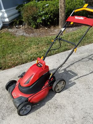 Electric, cordless, one bottom push start lawn mover