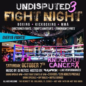 Boxing Tickets for Saturday October 7th at Guilt night club