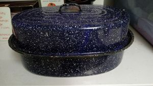 Large Speckle Ware Metal Roaster