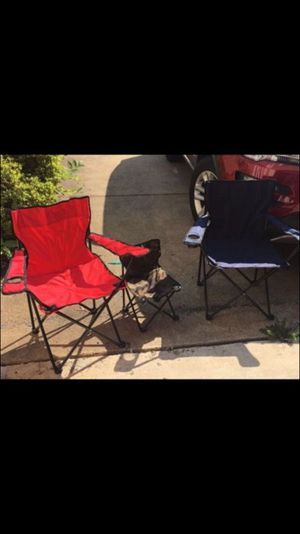 3 Folding Camp Chairs -NEW
