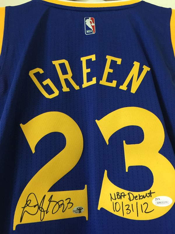 c06631af225 Warriors Draymond Green signed inscribed NBA DEBUT jersey JSA Witnessed  (Collectibles) in San Bruno