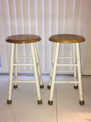 2 Wooden Stools