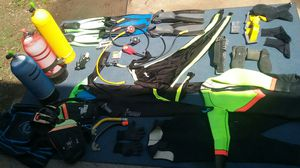 Scuba diving gear for three people $ 7,000.00