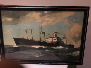 A painting that was inside the titanic boat