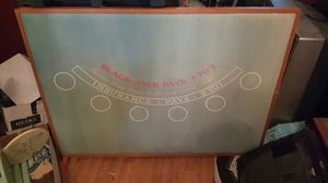 Blackjack tabletop/wall art