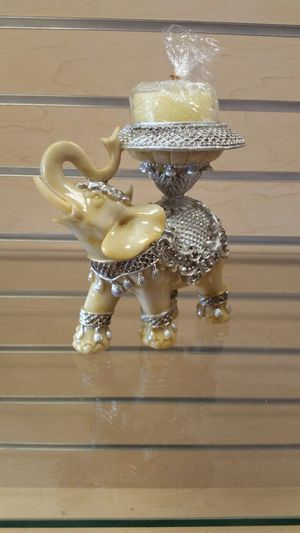 Elephant Figurine Candle Holder (new in a box)