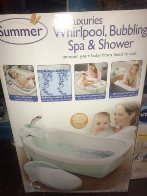 Summer Infant Lil' Luxuries Whirlpool, Bubbling Spa & Shower (Blue)