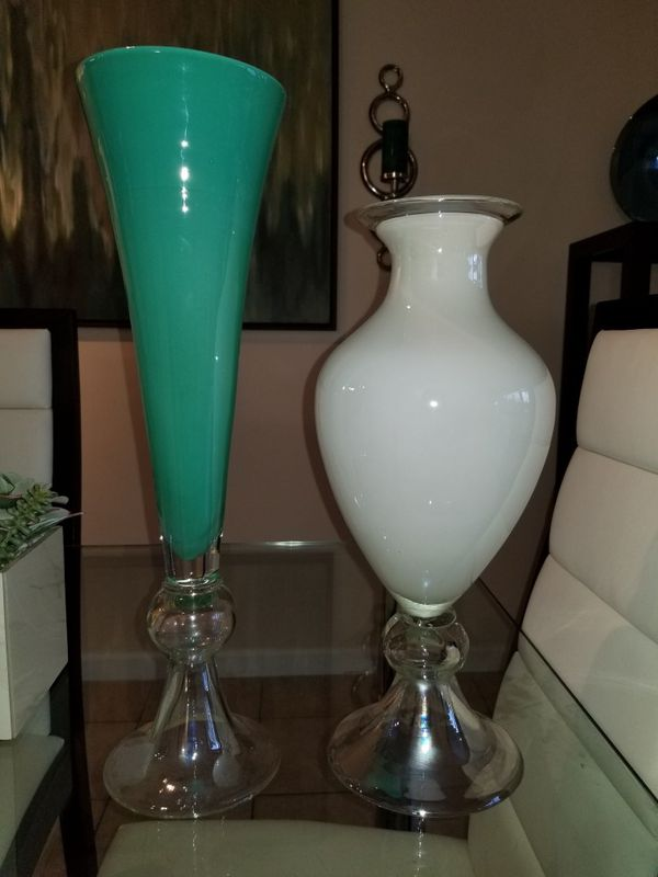 tall vase lighting garden. Two Tall Glass Vases Vase Lighting Garden