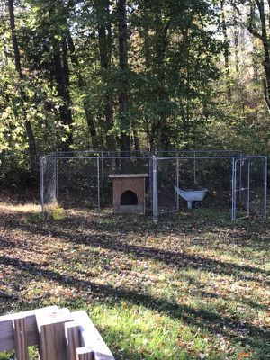 10x20 dog lot with divider