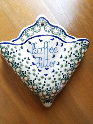 Polish Pottery Coffee filter holder