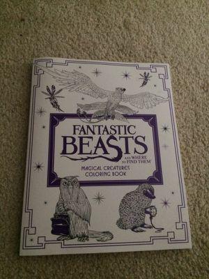 Fantastic Beasts coloring book