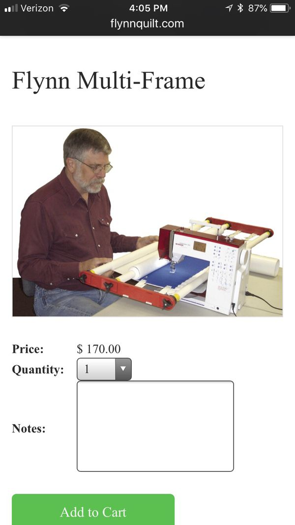 Old Fashioned Flynn Multi Frame Quilting System Composition - Frames ...