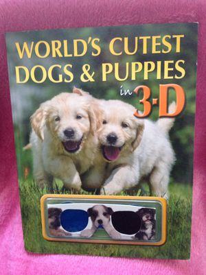 Worlds cutest dogs and puppies book with 3D glasses