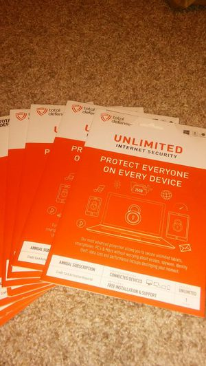 Total Defense Unlimited Internet Security for Unlimited Devices, Key Card SEALED.