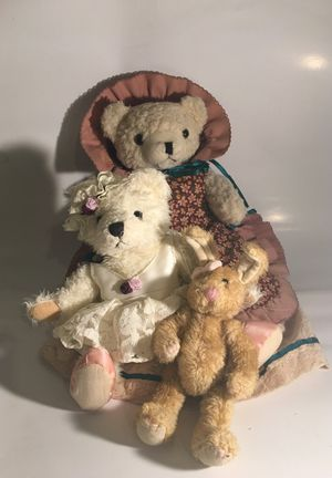 Frills and Lace - Teddy Bear and Bunny Trio