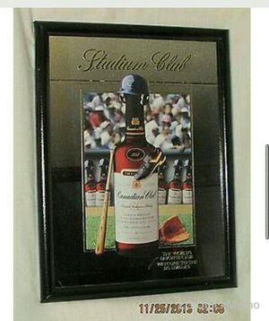 Whiskey bar mirrors.