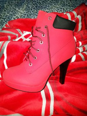 NEW! Red suede Military lace up ankle booties