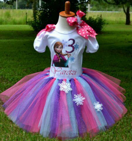Handmade Frozen Anna Birthday Tutu Outfit