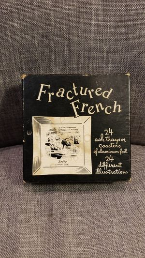 1950's Fractured French Ash Trays/Coasters
