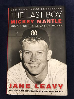 Book, Mickey Mantle, The Last Boy, NY Yankee Hall of Famer