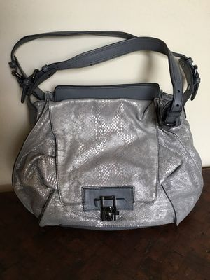 Koba Gray Leather Handbag