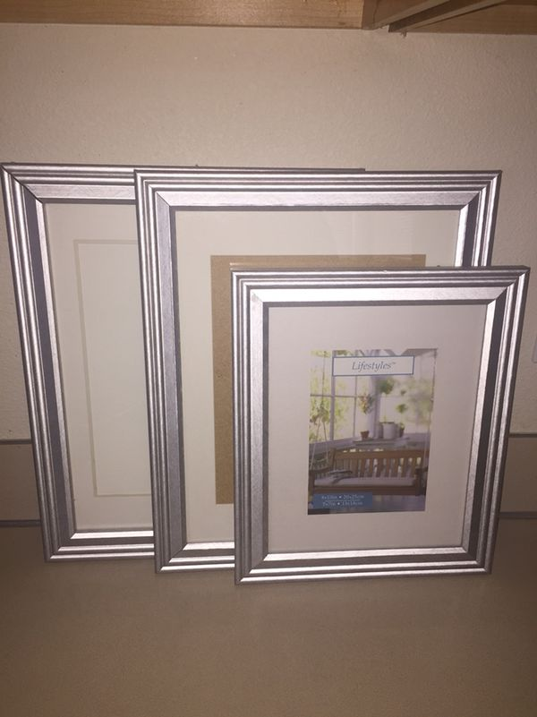 2, 10x13 and 1, 8x10 silver pictures frames (Photography) in ...