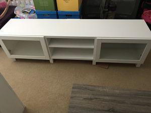 White entertainment stand