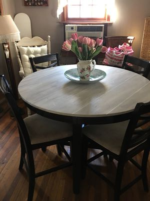 Pub Table And 4 Chairs Top Is Refinished