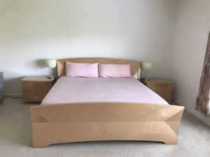 Price reduced !!!!! Italian made contemporary complete bedroom set with Armoire in excellent condition
