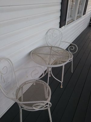 Outside garden chairs and table