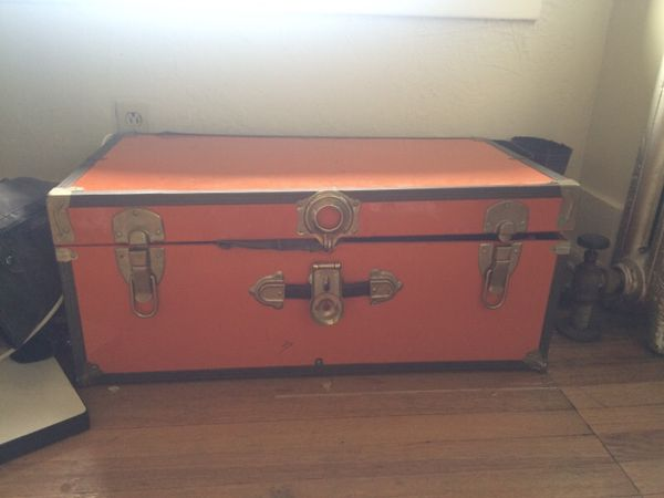 Orange Vintage Trunk Chest Household In Seattle Wa
