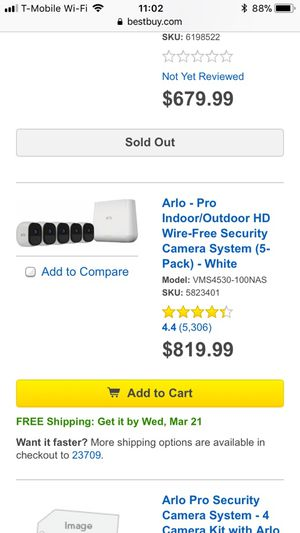 Arlo Wireless Security System, 5 cameras