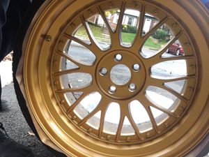 ESR Gold Wheels W/Tires
