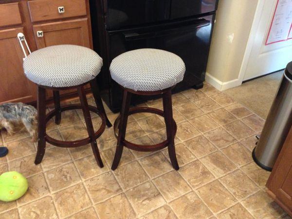 Dark Bile Chevron Bar Stools Furniture In Graham Wa