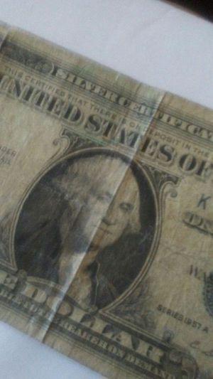 1 Dollar Bill 1957a silvercertificate