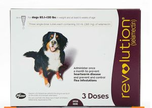 Revolution for dogs 85-130 lbs 3pk