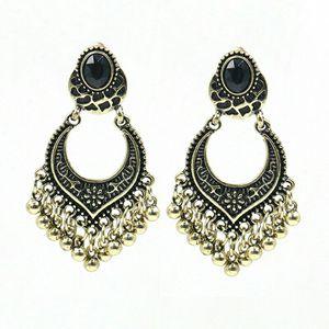 Silvertone Boho Style Post Earrings